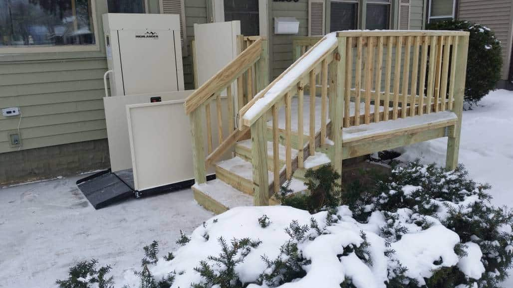 liftele home wheelchair lift leave stacks or accessibility enter to porch f image